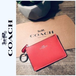 🆕 Coach Keychain Mini Wallet